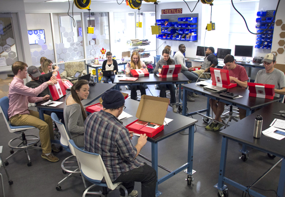 The Maker Hub is Elon's first makerspace open to all Elon students, faculty and staff. A makerspace is a space where you make things.