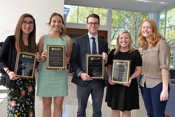 Outstanding Senior Awards recipients